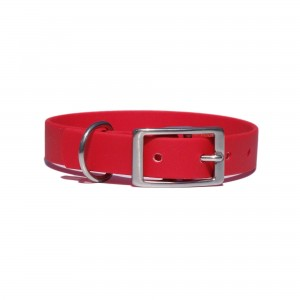 Collar for dog SPORT BioThane, red