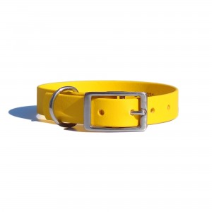 Collar for dog SPORT BioThane, yellow