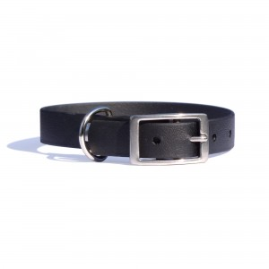 Collar for dog - SPORT BioThane, black